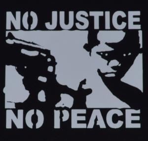 Detailansicht Tanktop: No Justice - No Peace