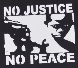 Detailansicht Fairtrade T-Shirt: No Justice - No Peace