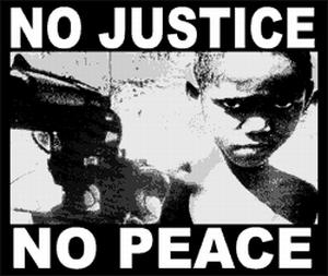 Detailansicht T-Shirt: No Justice - No Peace