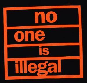 Detailansicht Woman Kapuzen-Pullover: no one is illegal