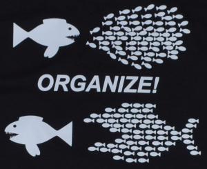 Detailansicht T-Shirt: Organize! Fische