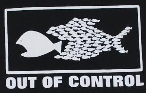 Detailansicht Kapuzen-Longsleeve: Out of Control