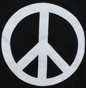 Detailansicht Girlie-Shirt: Peacezeichen