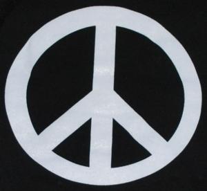 Detailansicht Kapuzen-Pullover: Peacezeichen