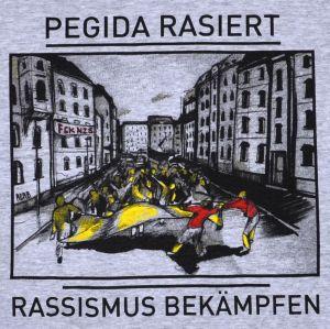 Detailansicht T-Shirt: PEGIDA rasiert - Rassismus bekämpfen