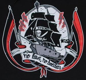 Detailansicht Kapuzen-Pullover: Piracy