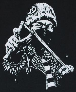 Detailansicht Kapuzen-Longsleeve: Punker Zwille