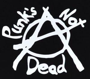 Detailansicht Man Tanktop: Punks not Dead (Anarchy)