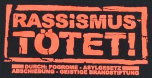 Detailansicht Girlie-Shirt: Rassismus tötet!