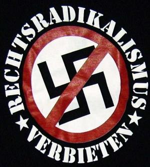 Detailansicht Girlie-Shirt: Rechtsradikalismus verbieten