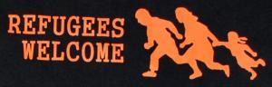 Detailansicht T-Shirt: Refugees welcome (running family)