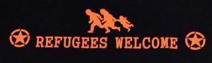 Detailansicht Man Tanktop: Refugees welcome (Stern)