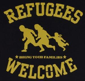 Detailansicht Top / Trägershirt: Refugees welcome