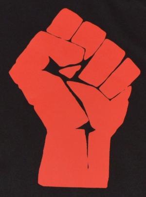 Detailansicht Fairtrade T-Shirt: Rote Faust