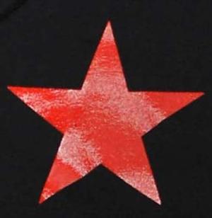 Detailansicht Kapuzen-Pullover: Roter Stern