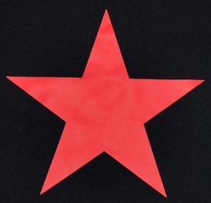 Detailansicht tailliertes Tanktop: Roter Stern