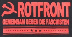 Detailansicht Kapuzen-Pullover: Rotfront - Gemeinsam gegen die Faschisten