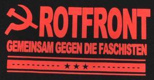 Detailansicht Girlie-Shirt: Rotfront - Gemeinsam gegen die Faschisten