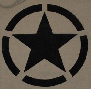 Detailansicht Kapuzen-Pullover: Schwarzer Stern im Kreis (Black Star)
