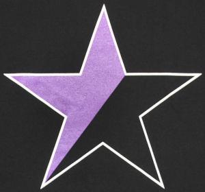 Detailansicht T-Shirt: Schwarz/lila Stern