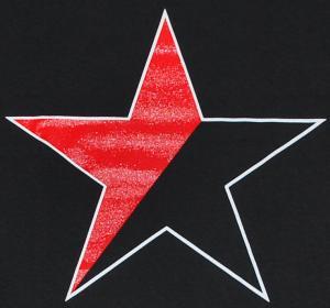 Detailansicht T-Shirt: Schwarz/roter Stern