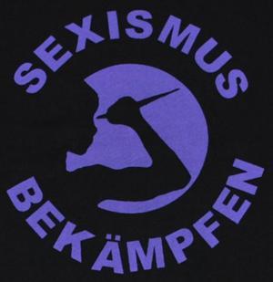Detailansicht T-Shirt: Sexismus bekämpfen (lila)