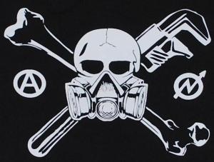 Detailansicht Girlie-Shirt: Skull - Gasmask