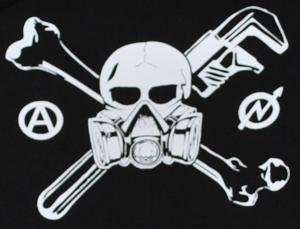 Detailansicht Kapuzen-Pullover: Skull - Gasmask
