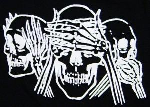 Detailansicht Girlie-Shirt: Skulls