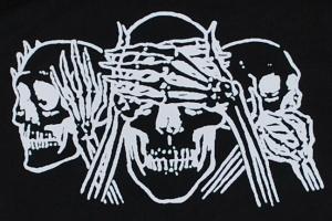 Detailansicht Kapuzen-Pullover: Skulls
