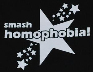 Detailansicht Kapuzen-Pullover: smash homophobia!