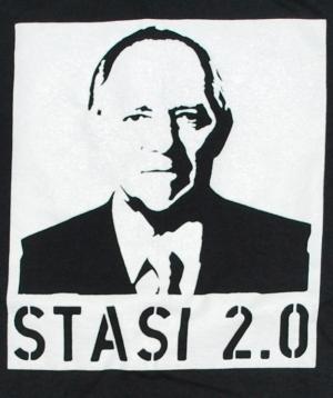 Detailansicht tailliertes T-Shirt: Stasi 2.0