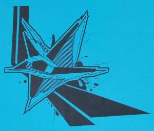 Detailansicht Girlie-Shirt: Stern