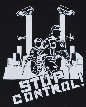Detailansicht Girlie-Shirt: Stop Control