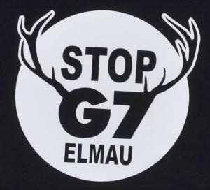 Detailansicht Fairtrade T-Shirt: Stop G7 Elmau