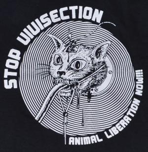 Detailansicht Longsleeve: Stop Vivisection! Animal Liberation Now!!!