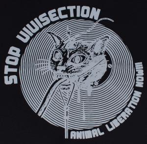 Detailansicht Trägershirt: Stop Vivisection! Animal Liberation Now!!!