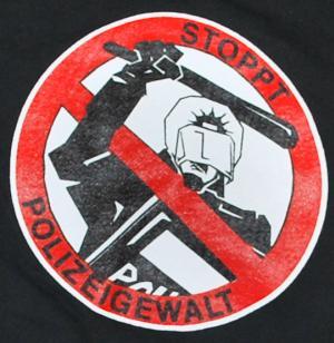 Detailansicht Sweat-Jacket: Stoppt Polizeigewalt