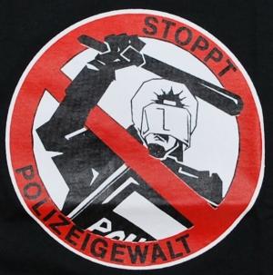 Detailansicht Girlie-Shirt: Stoppt Polizeigewalt