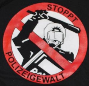 Detailansicht Kapuzen-Pullover: Stoppt Polizeigewalt