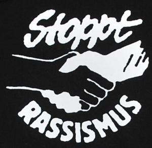 Detailansicht Kapuzen-Pullover: Stoppt Rassismus