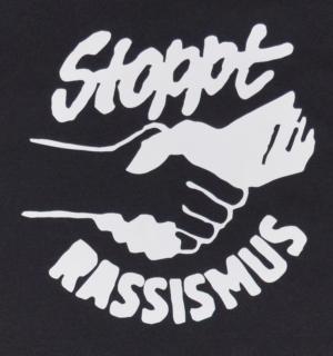 Detailansicht Fairtrade T-Shirt: Stoppt Rassismus