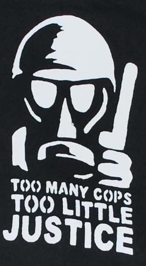 Detailansicht Kapuzen-Jacke: Too many Cops - Too little Justice