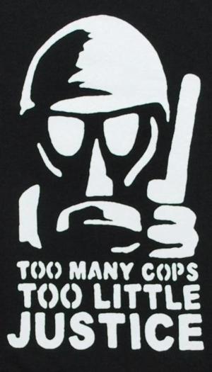 Detailansicht Girlie-Shirt: Too many Cops