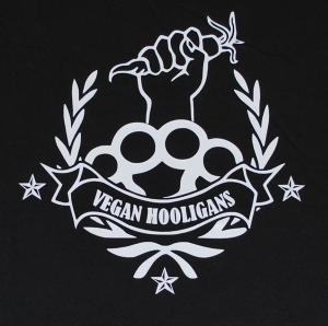 Detailansicht Girlie-Shirt: Vegan Hooligans