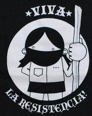 Detailansicht Girlie-Shirt: Viva la Resistencia!