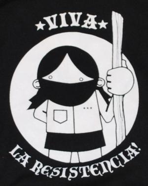 Detailansicht Kapuzen-Pullover: Viva la Resistencia!