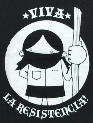 Detailansicht Longsleeve: Viva la Resistencia!