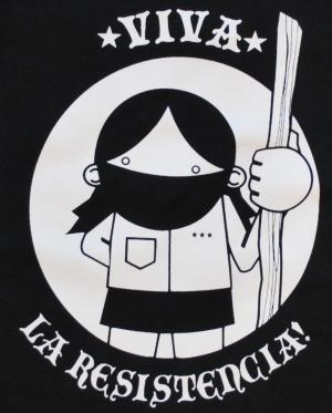 Detailansicht Trägershirt: Viva la Resistencia!