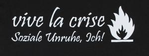 Detailansicht Girlie-Shirt: vive la crise